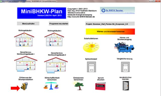 Beispiel Photovoltaik Stromerzeugung berücksichtigen