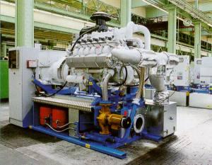 Motor BHKW Blockheizkraftwerk